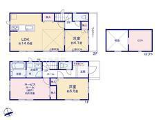 さいたま市 緑区三室 全2棟A号棟【E-0462900】のサムネイル